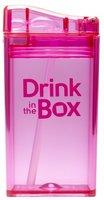 Drink in the Box Roze, herbruikbaar drink pakje met rietje.