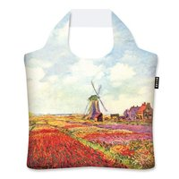 Ecozz Ecoshopper van gerecycled plastic, Tulip fields in Holland