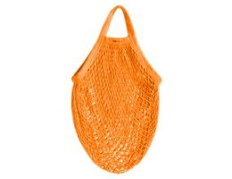AhTable! Boodschappen netje van Organisch katoen oranje