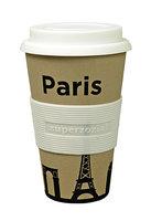Zuperzozial Bamboe koffiebeker, Cruising travel mug Paris