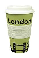 Zuperzozial Bamboe koffiebeker, Cruising travel mug London