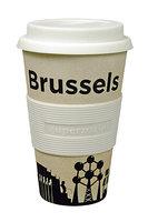Zuperzozial Bamboe koffiebeker, Cruising travel mug Brussels