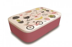 BambooFriends grote Bamboe Lunchbox Pretty Little Things - Duurzame brooddoos