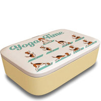 BambooFriends grote Bamboe Lunchbox Yoga Time - Duurzame brooddoos