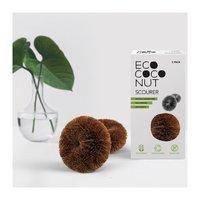 EcoCoconut schuursponsjes van Cocosvezel, pak van 2 stuks