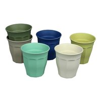 Zuperzozial Cupful of Colour Breeze L, set van 6 grote bamboe bekers