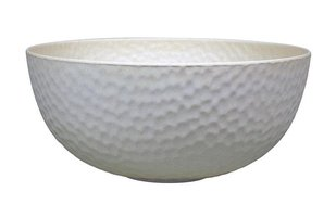 Bamboe supergrote kom van Zuperzozial: Large Bowl Hammered Coconut White