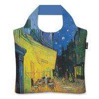Ecozz opvouwbare shopper van rPET Vincent van Gogh, Café VG03