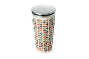Bamboo SlideCup koffie to go thermos beker Rows of Leaves