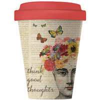 BambooCup volledig bamboe koffie to go beker Good Thoughts