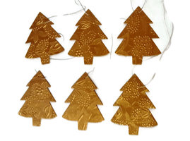 Imbarro kerstboom hangertjes goud