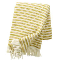 Klippan deken van Eco wol Olle Saffron