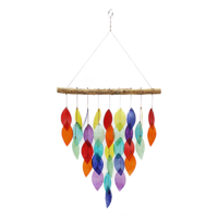 Fairtrade Capiz rainbow hanger leafs