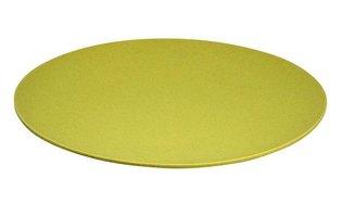 Jumbo Bite Plate Lemony Yellow van Zuperzozial, XL bamboe bord Ø35,5cm