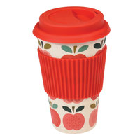 Rex London Travel Mug Vintage Apple, Bamboe koffie to go beker