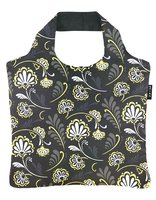 Ecozz opvouwbare shopper van gerecyclede Pet, Ornamental Flowers 02