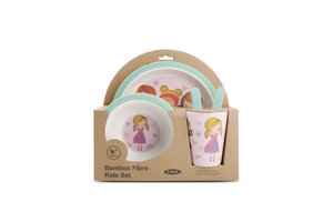 Bamboe kinder servies set Fashion Girl