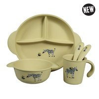 The ZOO, Eco-Kids PLA kinder servies set Zebra