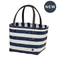 Handed By Shopper Vintage Color Block Ocean Blue White