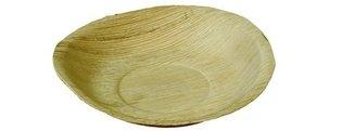 Palmblad bord rond klein 18cm, pak met 25 stuks.