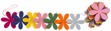 Global Affairs Felt Garland Flowers Funky, vilten bloemen slinger