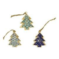 Imbarro metalen kerstboom hanger Trees Clivia