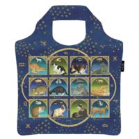 Ecozz opvouwbare tas van gerecyclede Pet flessen, Francien's Astrology Cats