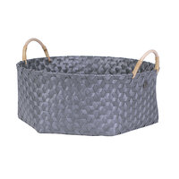 Handed By Basket Dimensional Dark Grey XL, grote mand van gerecycled plastic