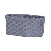 Handed By Oval Basket Dimensional Dark Grey S, mand van gerecycled plastic