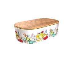 BambooFriends de Luxe Bamboe Lunchbox met houten deksel Happy Fruit