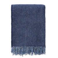 Klippan deken van Lamswol Shimmer Blue