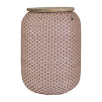 Handed By Basket Halo High Copper Blush, grote mand van gerecycled plastic