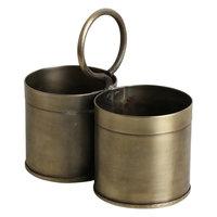 Vegetable holder Brass double