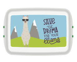 Biodora lunchbox van Bioplastic met llama print