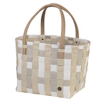 Handed By Shopper Color Block Ecru white mix van gerecycled plastic