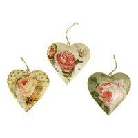 Imbarro metalen hanger Hearts Rose