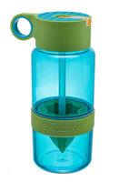 KidZinger Juice Maker - blauwe waterfles met pop-up rietje
