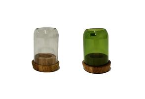 Fairtrade waxinelichthouder van gerecycled glas, Large