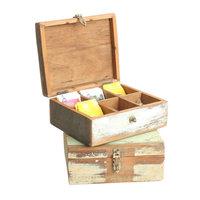 Scrapwood tea box - thee doos van FSC sloophout