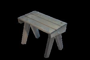 EcoFurn Granny Table, tafeltje in grijs geolied dennenhout
