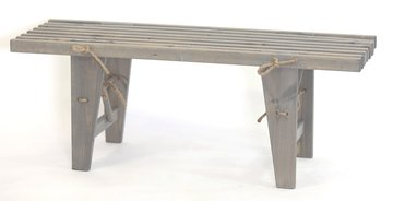 EcoFurn bankje, Eco Bench in grijs geolied dennenhout