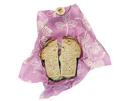 Bee's Wrap: Sandwich Foodwrap Mimi's Purple, herbruikbare bijenwas doek.