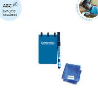 Correctbook pocket notitieboekje met pen en wisdoekje - blauw