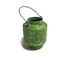 Only Natural Fairtrade Iron Lantern - groen