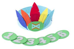 Global Affairs Felt Feather Crown - blauwe verjaardagskroon van vilt