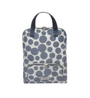 Earth Squared Backpack Blue Spot, fairtrade canvas rugzak