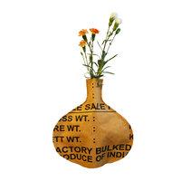 Superwaste Bottle Vase Round, vaas cover van gerecyclede theezakken