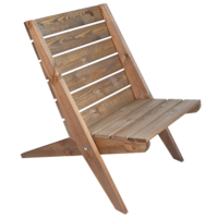 EcoFurn Granny Chair, grote stoel in bruin geolied dennenhout
