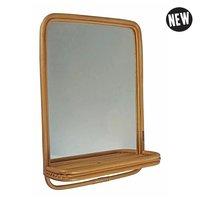 Puhlmann rotan mirror/ spiegel met plankje