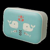 Fresk Bamboe Lunchbox - broodtrommel met walvissen